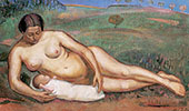 Female Nude with Her Child By Alice Bailly