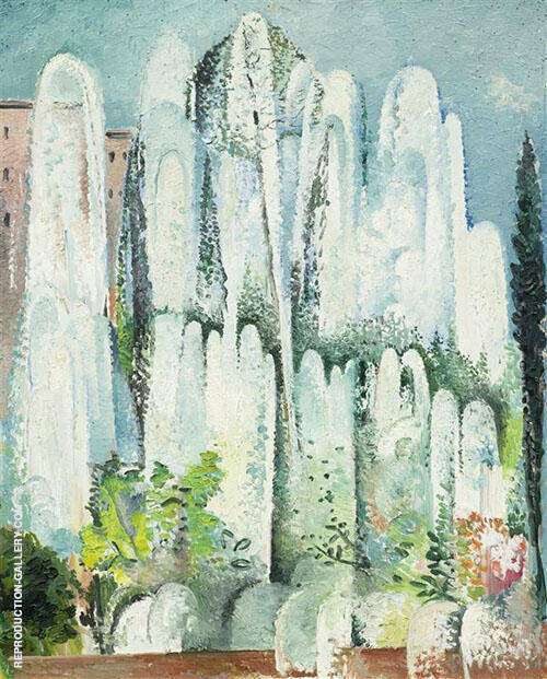 Fontaine Dans Un Jardin De Rome 1934 By Alice Bailly