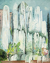 Fontaine Dans Un Jardin De Rome 1934 By Alice Bailly