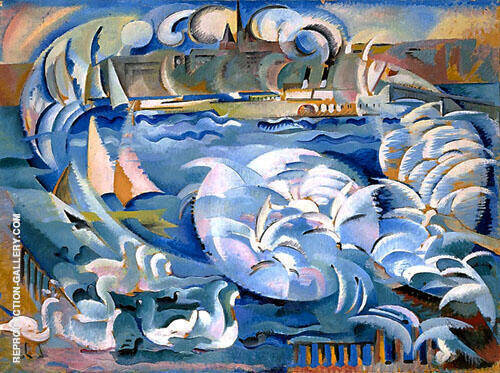 Geneva Harbor By Alice Bailly
