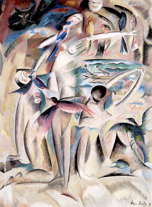 Happy Omen 1919 By Alice Bailly
