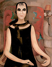 Portrait of Mlle Madeleine de Cerenville 1927 By Alice Bailly