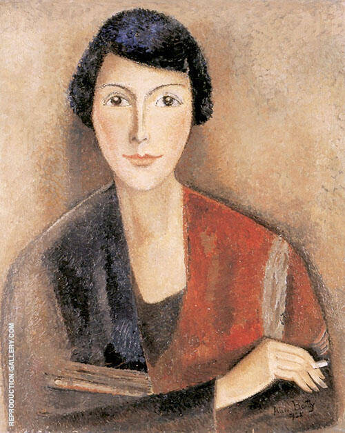 Portrait of Pernette 1935 Painting By Alice Bailly - Reproduction Gallery