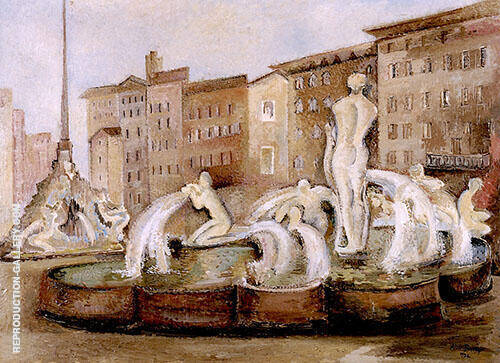 Rome Fountain No3 1934 By Alice Bailly