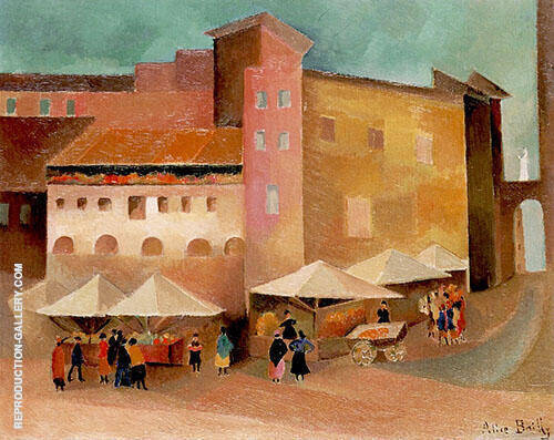 Small Italian Market 1928 Painting By Alice Bailly - Reproduction Gallery