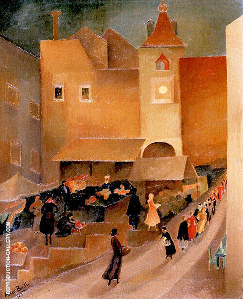 Small Market in Venice 1929 By Alice Bailly