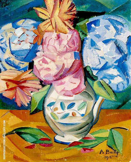 Still Life Bouquet of Hydrangeas 1911 By Alice Bailly