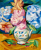 Still Life Bouquet of Hydrangeas 1911 By Alice Bailly