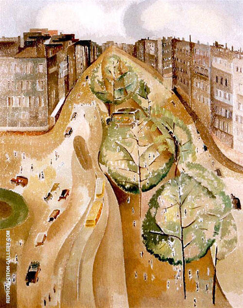 The Avenue 1921 By Alice Bailly