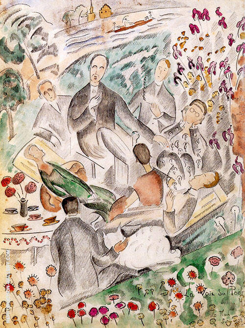 The Poets Voice 1923 Painting By Alice Bailly - Reproduction Gallery