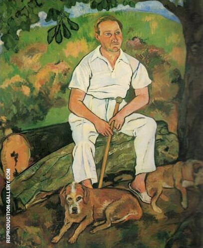 Andre Utter and His Dogs 1932 By Suzanne Valadon