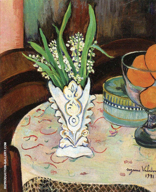 Bouquet of Lilly of The Valley in a Vase 1931 By Suzanne Valadon