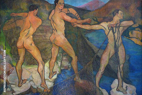 Casting The Net 1914 By Suzanne Valadon