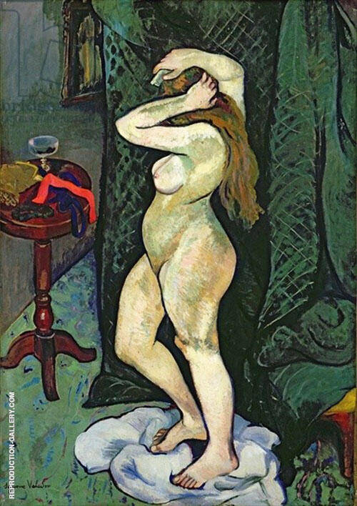 Nude Arranging Her Hair 1916 By Suzanne Valadon