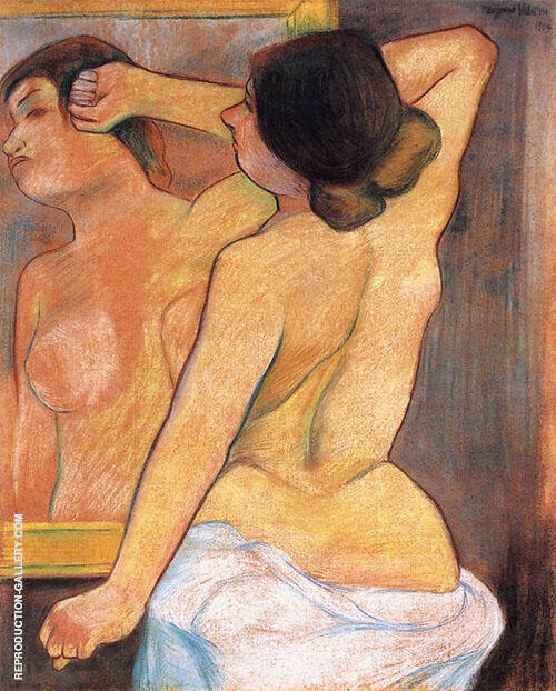Nude from The Back in Front of a Mirror By Suzanne Valadon