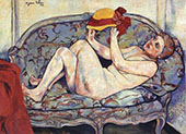 Nude Reclining on a Sofa 1928 By Suzanne Valadon