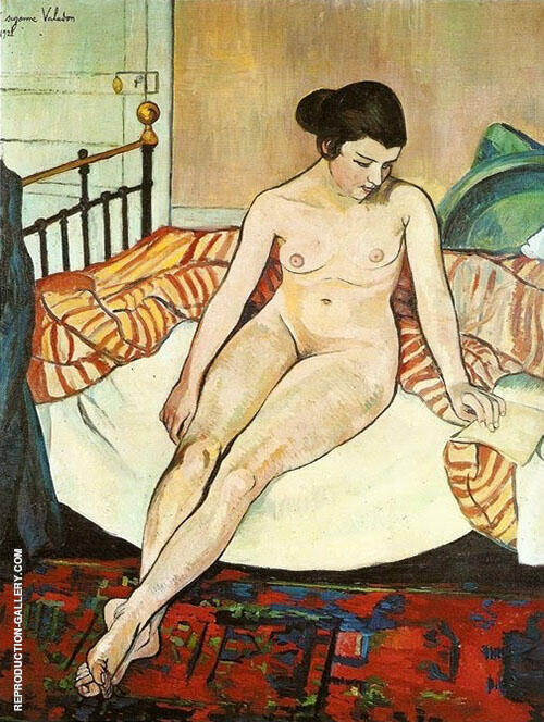 Nude with a Striped Blanket By Suzanne Valadon