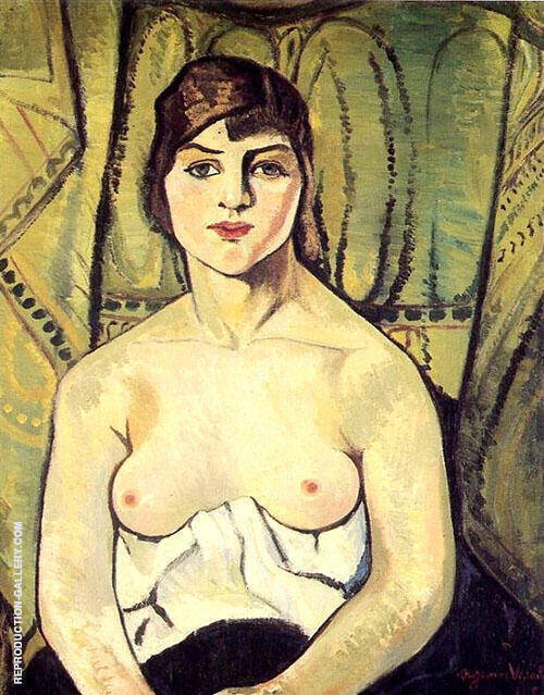 Portrait of a Woman 1917 By Suzanne Valadon