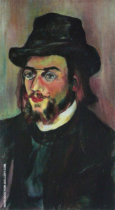 Portrait of Composer Erik Satie 1893 By Suzanne Valadon