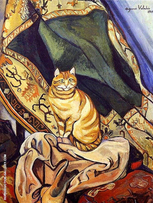 Raminou Sitting on a Cloth 1920 By Suzanne Valadon