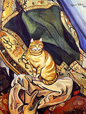 Raminou Sitting on a Cloth 1920 By Suzanne Valadon