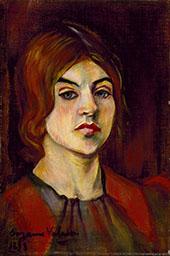 Self Portrait 1898 By Suzanne Valadon