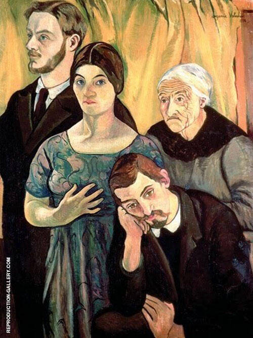 Self Portrait with Her Family 1910 By Suzanne Valadon