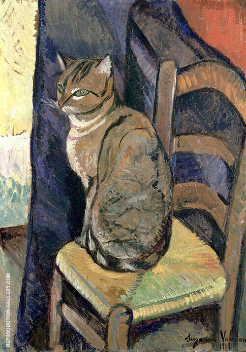 Study of a Cat 1918 By Suzanne Valadon