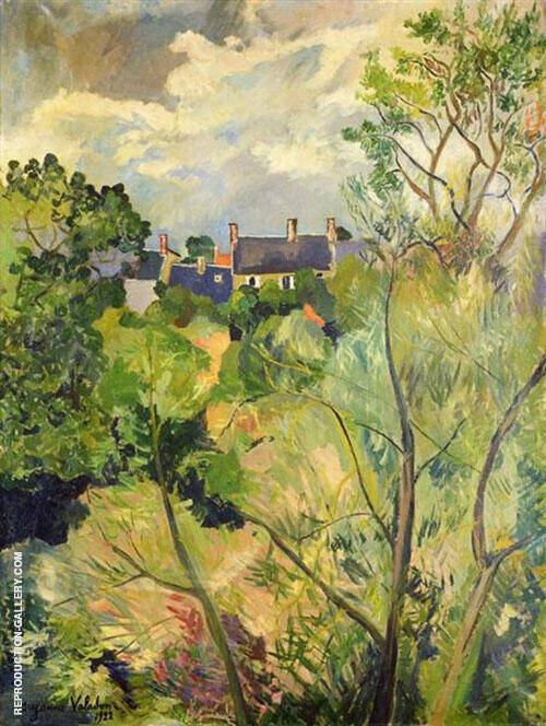 View from My Window in Genets Brittany 1922 By Suzanne Valadon