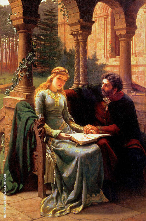 Abelard and his Pupil Heloise By Edmund Leighton