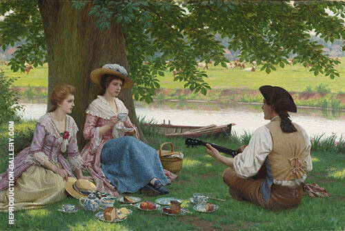A Picnic Party By Edmund Leighton