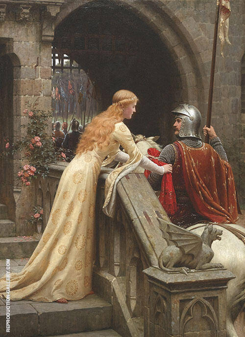 God Speed 1900 Painting By Edmund Leighton - Reproduction Gallery