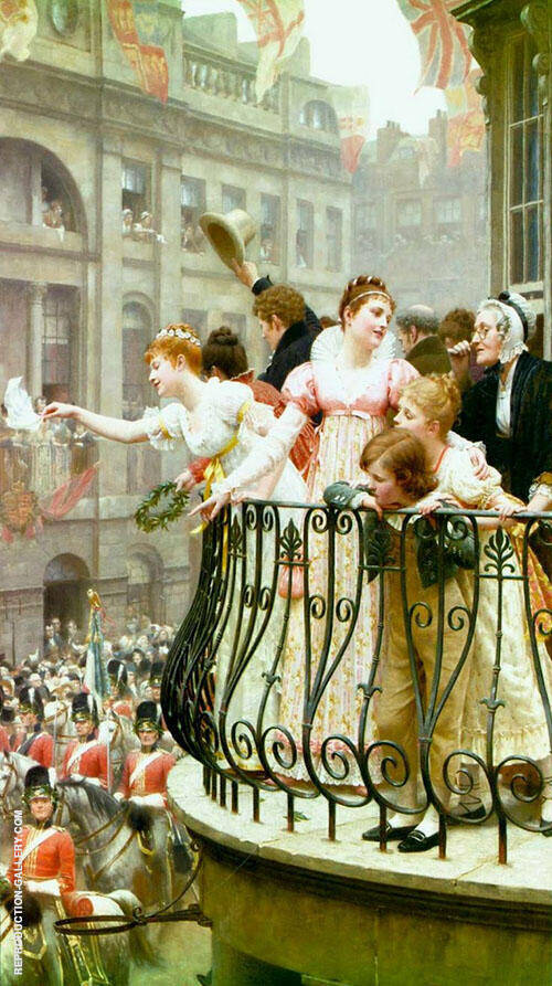 The Balcony in 1816 Painting By Edmund Leighton - Reproduction Gallery