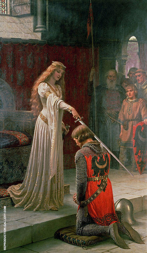 The Accolade 1901 Painting By Edmund Leighton - Reproduction Gallery