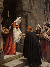 The Charity of Elisabeth of Hungary By Edmund Leighton