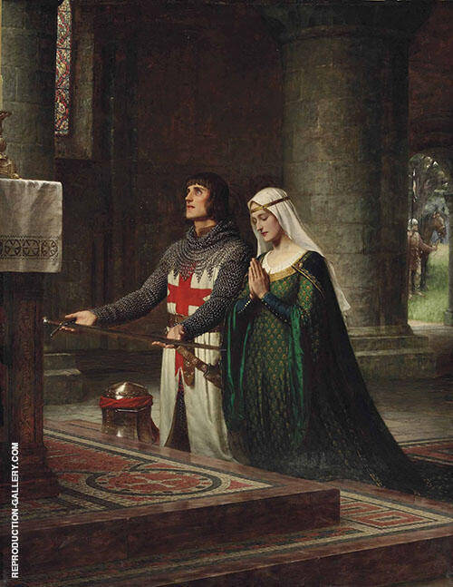 The Dedication 1908 Painting By Edmund Leighton - Reproduction Gallery