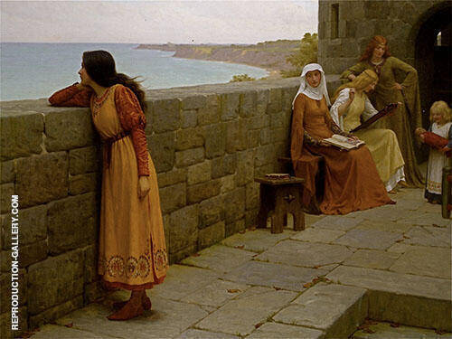 The Hostage Painting By Edmund Leighton - Reproduction Gallery