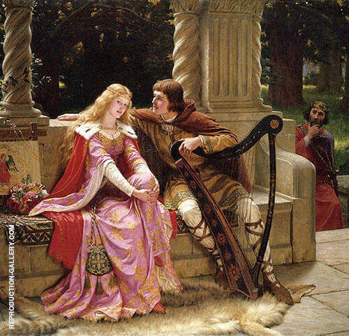 Tristan and Isolde 1902 Painting By Edmund Leighton - Reproduction Gallery
