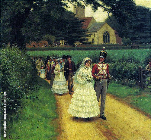 Wedding March Thumb Painting By Edmund Leighton - Reproduction Gallery