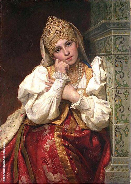 Bojar Woman By Firs Sergeyevich Zhuravlev