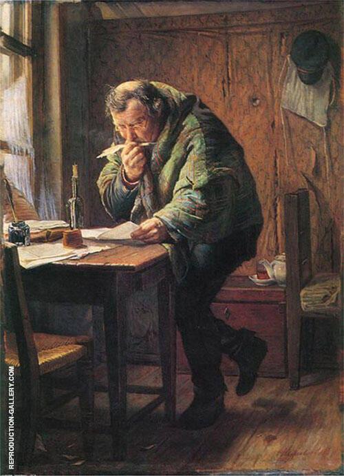 The Clerk 1884 By Firs Sergeyevich Zhuravlev