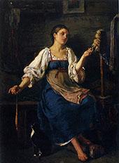 The Spinner 1864 By Firs Sergeyevich Zhuravlev