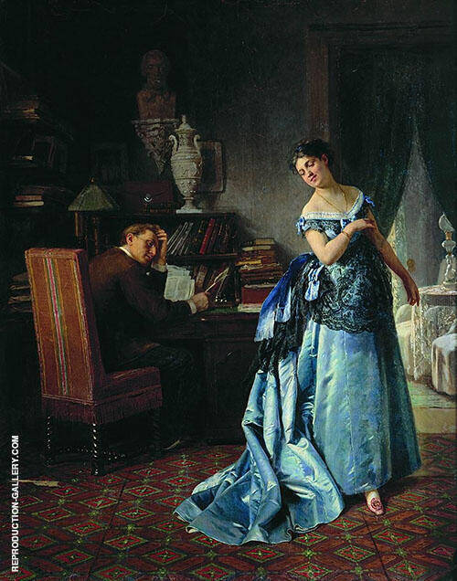 Before The Ball 1872 By Firs Sergeyevich Zhuravlev