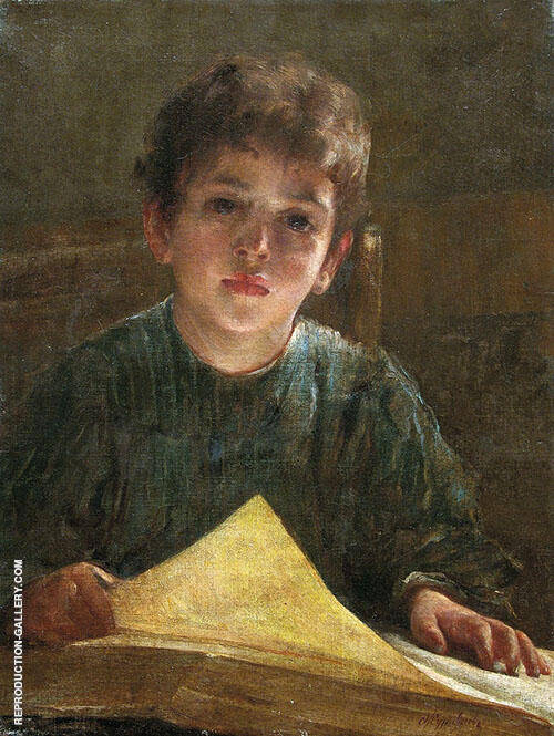 Boy with a Book By Firs Sergeyevich Zhuravlev