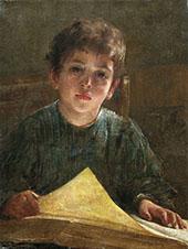 Boy with a Book By Firs Sergeyevich Zhuravlev