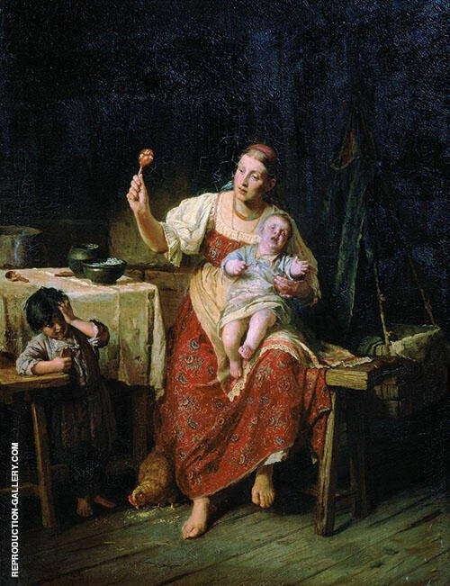 Stepmother 1874 By Firs Sergeyevich Zhuravlev