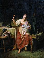 Stepmother 1874 By Firs Sergeyevich Zhuravlev