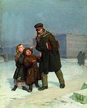 The Beggar Children By Firs Sergeyevich Zhuravlev
