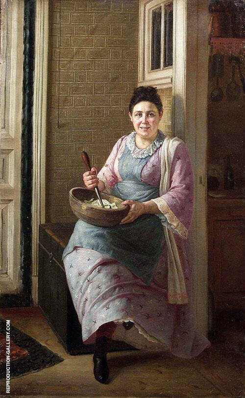 The Kitchen Maid By Firs Sergeyevich Zhuravlev