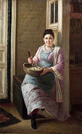 The Kitchen Maid By Firs Sergeyevich Zhuravlev